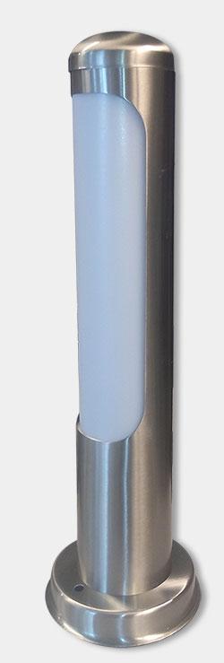 Φωτιστικό απλίκα απο ατσάλι inox κυρτή & οπάλ πλαστικό 42 cm ip44